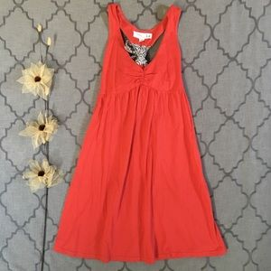 Red Bow Back Carrick Bend Dress By Lilka